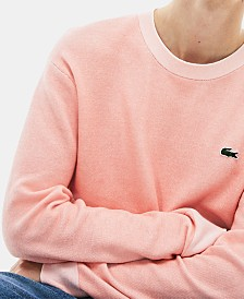 Lacoste Men's Bicolor Birds Eye-Knit Sweater