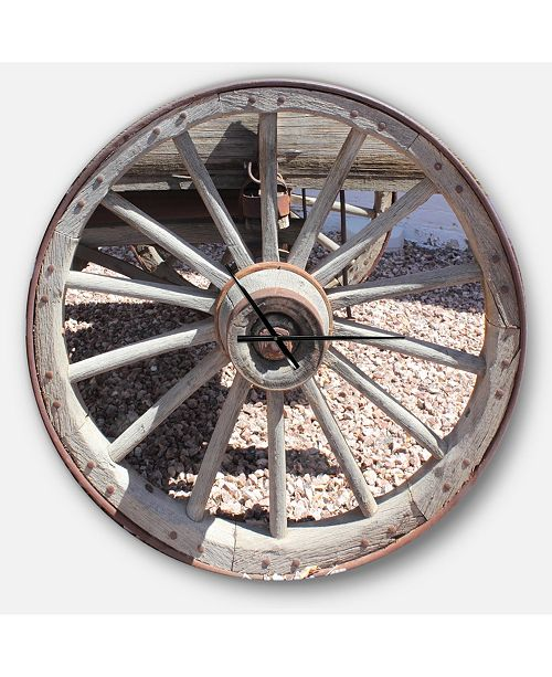 Design Art Designart Oversized Farmhouse Round Metal Wall Clock