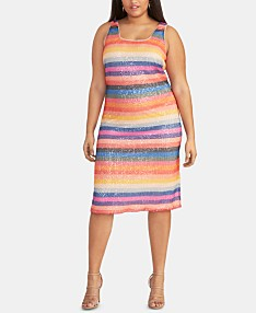 Orange Plus Size Dresses - Macy\'s
