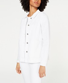 Eileen Fisher Classic Organic Cotton Jacket