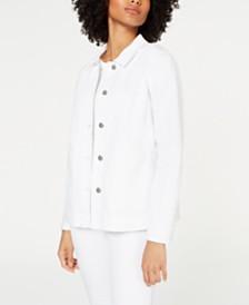 Eileen Fisher Classic Organic Cotton Jacket