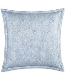 Sleep Luxe Cotton 800-Thread Count Printed Paisley Blue European Sham, Created for Macy's