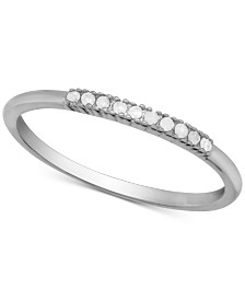 Diamond Anniversary Ring (1/10 ct. t.w.) in Sterling Silver
