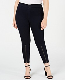 Women's Extreme Zip Hem Denim Leggings, Created for Macy's
