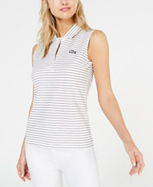 Lacoste Striped Polo Top