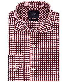 Tommy Hilfiger Men's Slim-Fit Non-Iron THFlex Supima® Stretch Bold Pattern Dress Shirt