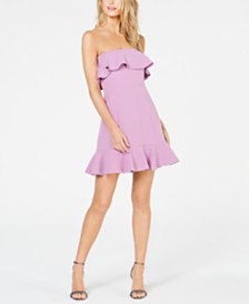 Rachel Zoe Elaina Ruffled Strapless Mini Dress