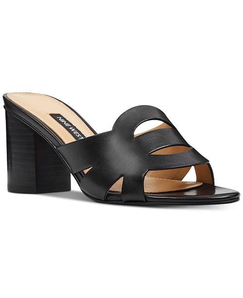 515f2d07f4 Nine West Nevaeh Block-Heel Slide Sandals & Reviews - Sandals & Flip ...