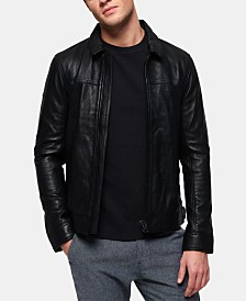 Superdry Men's Curtis Full-Zip Leather Jacket