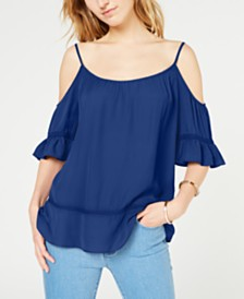 Michael Michael Kors Cold-Shoulder Lace-Trim Top