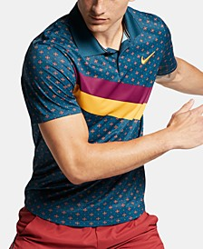 Men's Court Printed Tennis Polo