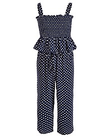 Pink & Violet Big Girls 2-Pc. Dot-Print Top & Pants Set