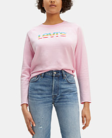 Levi's® Logo-Print Cotton Cropped Top