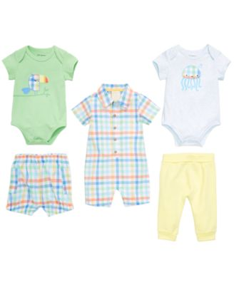Baby Boys Plaid-Print Cotton Bloomer Shorts, Created for Macy's