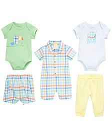 First Impressions Baby Boys Summer Plaid Mix & Match Separates, Created for Macy's