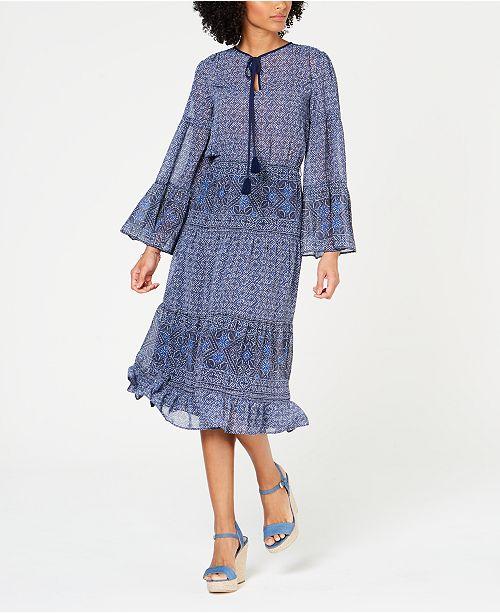 Michael Kors Printed Tiered Dress, Regular & Petite