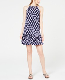 MICHAEL Michael Kors Printed Chain-Detail Dress