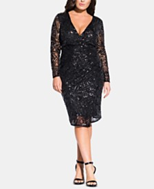 City Chic Trendy Plus Size Razzle Dazzle Dress