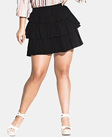City Chic Trendy Plus Size Salsa With Me Skort