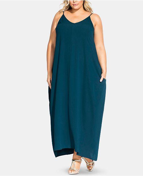 City Chic Plus Size Aruba V Maxi Dress