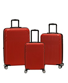 Rockland Pista 3PCE Hardside Luggage Set