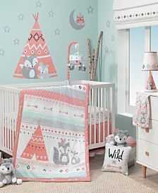 Lambs & Ivy Little Spirit Southwest Fox and Teepee Nursery 3-Piece Baby Crib Bedding Set