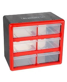 Trademark Global Storage Drawers - 6 Compartment organizer Desktop or Wall Mountable Container by Stalwart