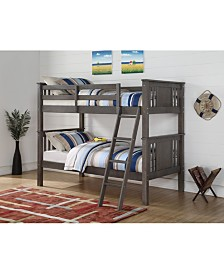 Twin Over Twin Princeton Panel Mission Bunk Bed