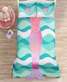 Mermaid Ruffle 3Pc Full Comforter Set