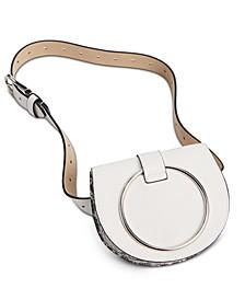 Pebbled Faux Leather Convertible Belt Bag