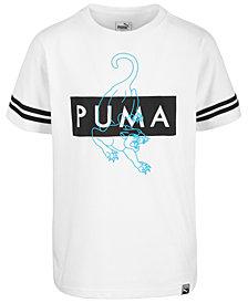 Puma Big Boys Fashion Logo Cotton T-Shirt