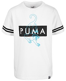 Puma Big Boys Fashion Logo Cotton T-Shirt