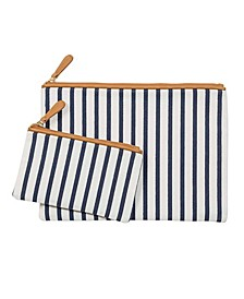 Personalized Striped Clutch Set