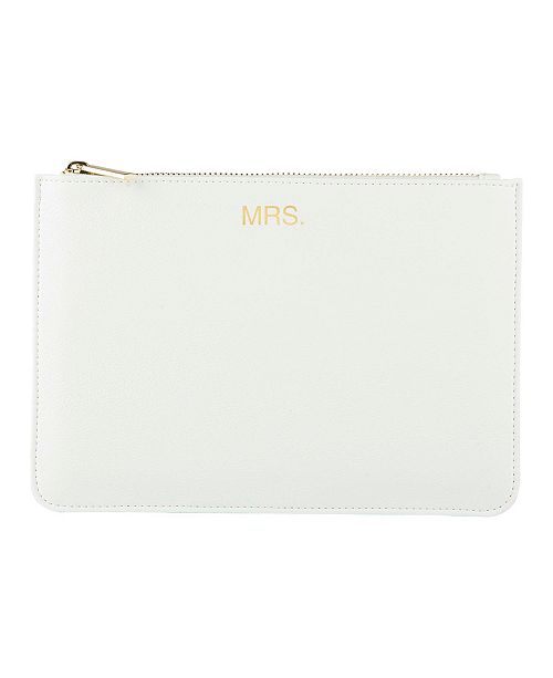 Cathy's Concepts Mrs. Vegan Leather Clutch