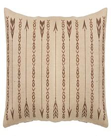 HiEnd Accents Long Rectangles and Arrows 15x35 Burlap Pillow