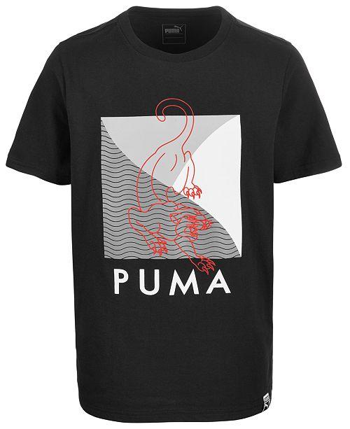 Puma Big Boys Split Graphic Logo Cotton T-Shirt