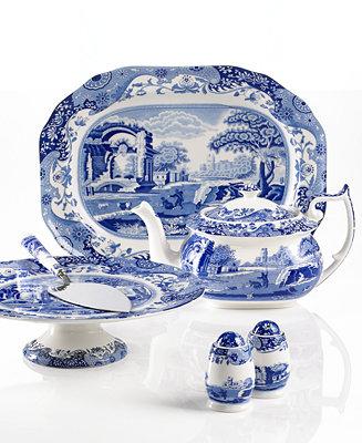 Spode Serveware Blue Italian Collection Serveware