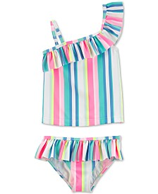 Carter's Baby Girls 2-Pc. Striped Ruffle Swimsuit