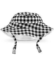Baby Boys Gingham-Print Cotton Hat