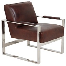 Parkgate Occasional Leather Chair, Quick Ship