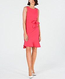 Ruffle-Hem Belted Dress
