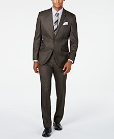 Unlisted Men's Slim-Fit Brown Sharkskin Suit