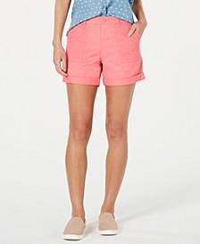 Eyelet-Pocket Cuffed Shorts, Created for Macy's