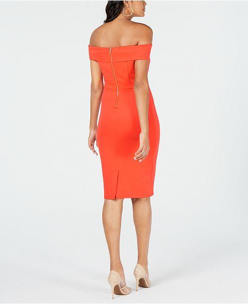 ef26e767967 ... Thalia Sodi Off-The-Shoulder Bodycon Dress