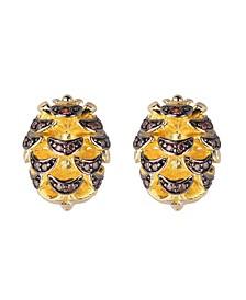 Acorn Stud Earring With Cubic Zirconia Stones