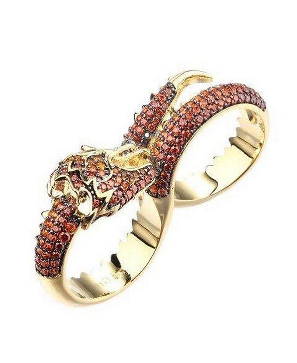 nOir Cubic Zirconia Dragon Statement Ring