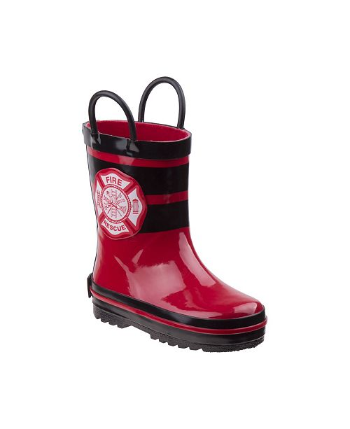 Rugged Bear Every Step Fireman Rain Boots