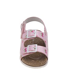 Every Step Flower Cork Lining Sandals
