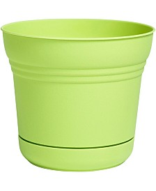 "Bloem 7"" Saturn Planter with Saucer"