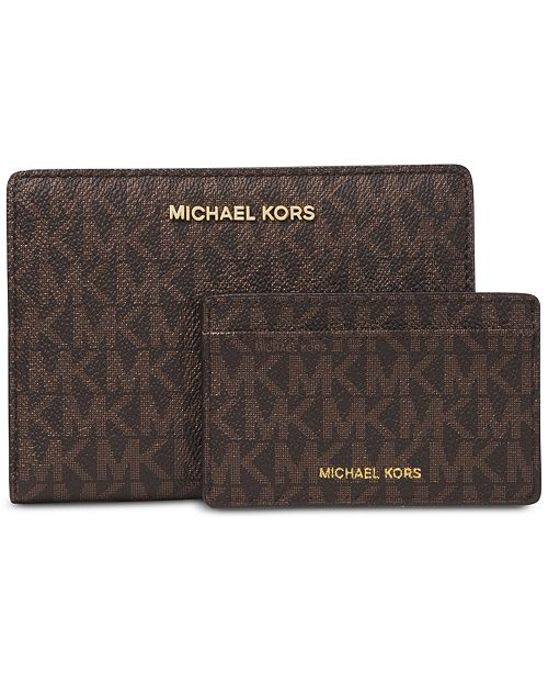 Michael Kors Signature 2-in-1 Card Case Carryall